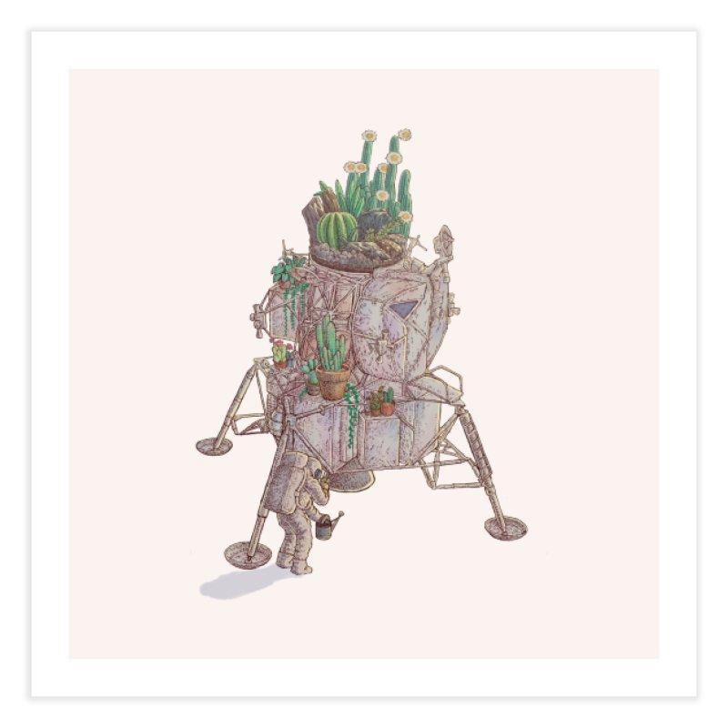 Astronaut's garden Home Fine Art Print by makapa's Artist Shop