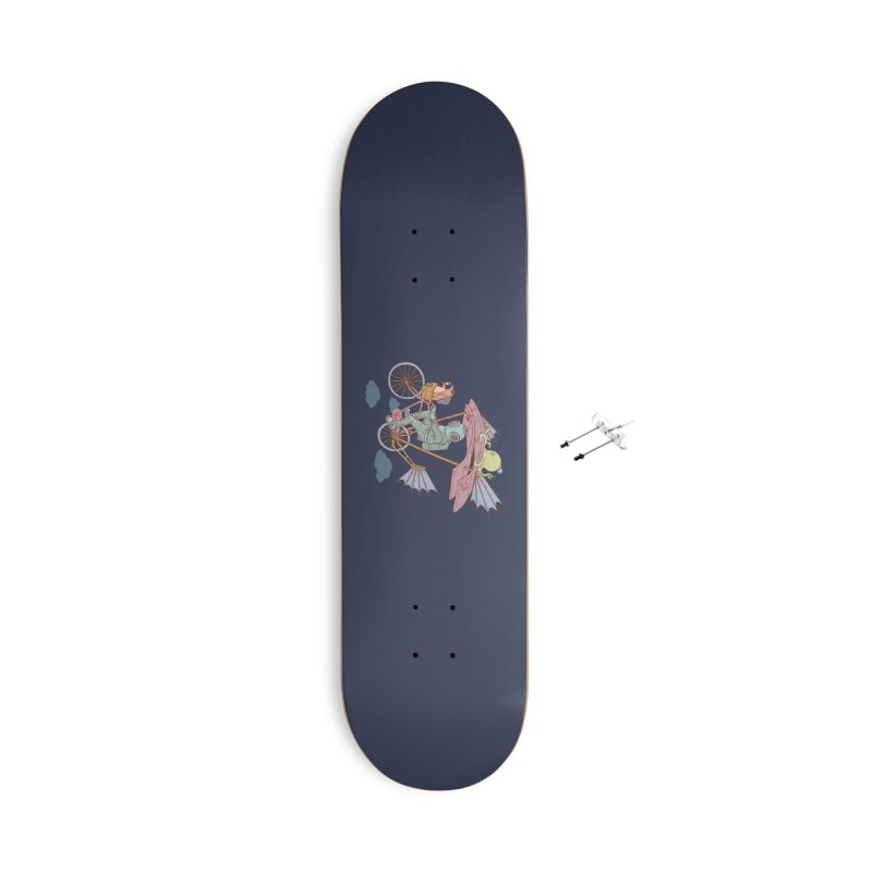 Fly with aquanaut Accessories Skateboard by makapa's Artist Shop