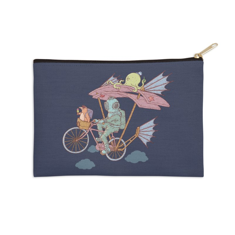 Fly with aquanaut Accessories Zip Pouch by makapa's Artist Shop