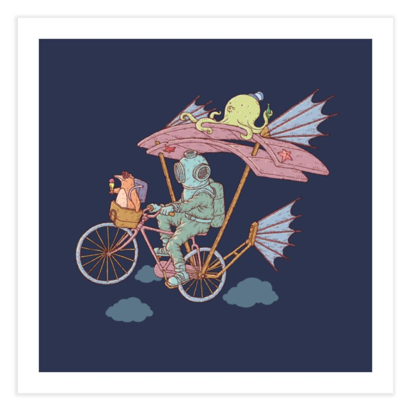 Fly with aquanaut Home Fine Art Print by makapa's Artist Shop
