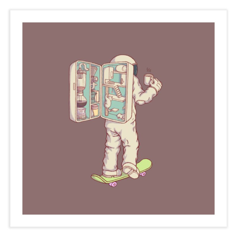Backpack of astronaut Home Fine Art Print by makapa's Artist Shop