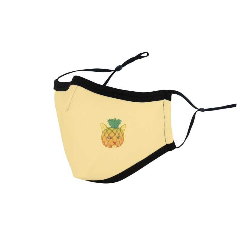 Pineapple cat (mini) Accessories Face Mask by makapa's Artist Shop