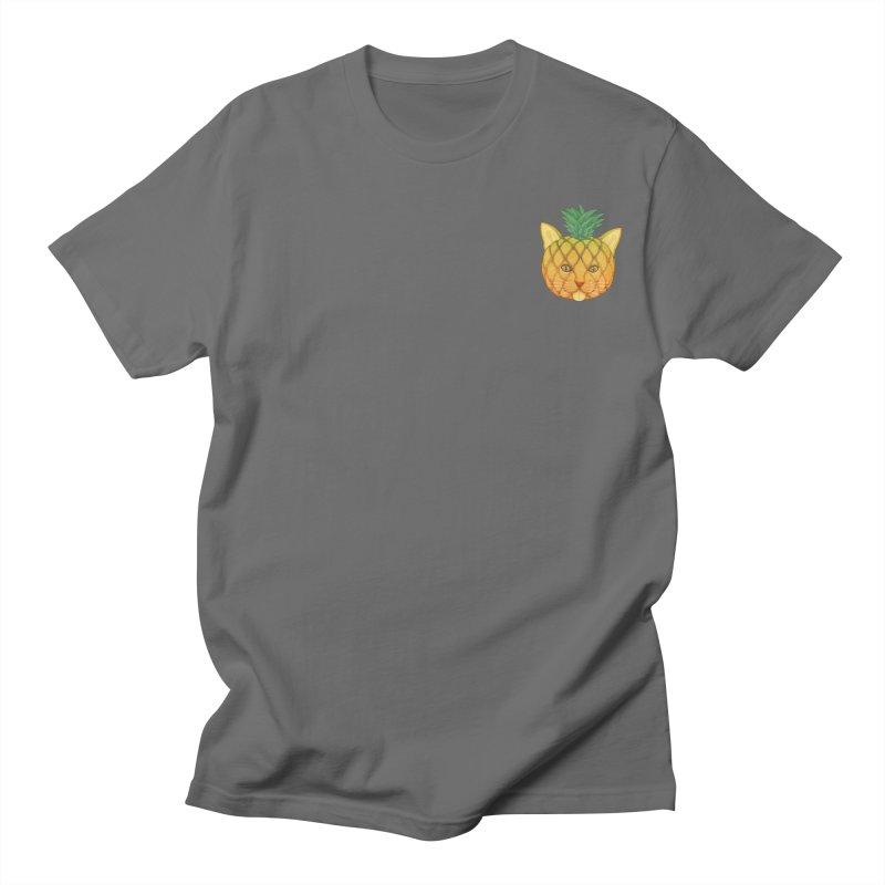 Pineapple cat (mini) Men's T-Shirt by makapa's Artist Shop