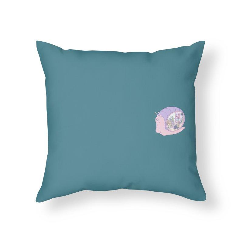 Snail anatomy (mini) Home Throw Pillow by makapa's Artist Shop