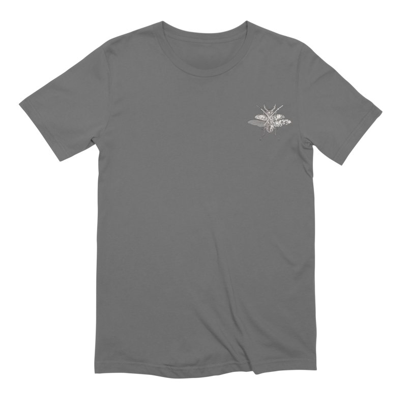 Stag beetle samurai (mini) Men's T-Shirt by makapa's Artist Shop