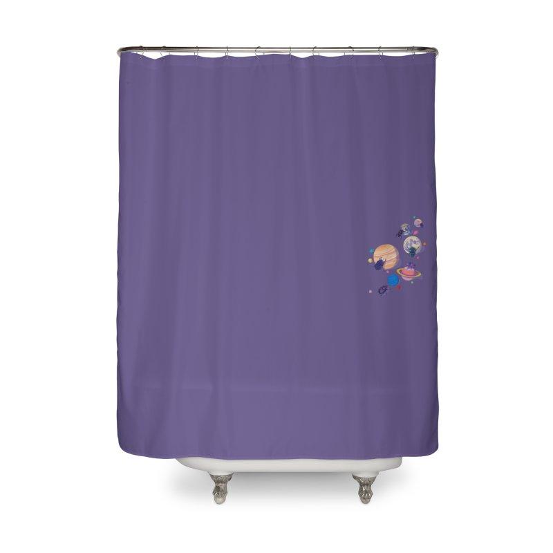 Rolling stars (mini) Home Shower Curtain by makapa's Artist Shop
