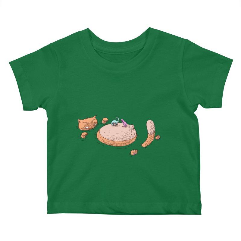 Catnosaur Kids Baby T-Shirt by makapa's Artist Shop