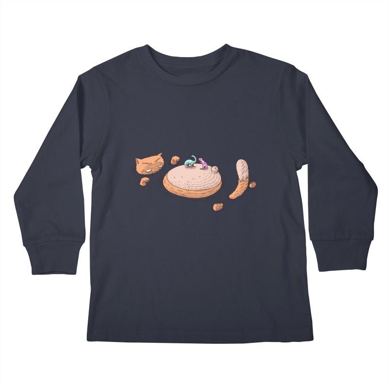 Catnosaur Kids Longsleeve T-Shirt by makapa's Artist Shop