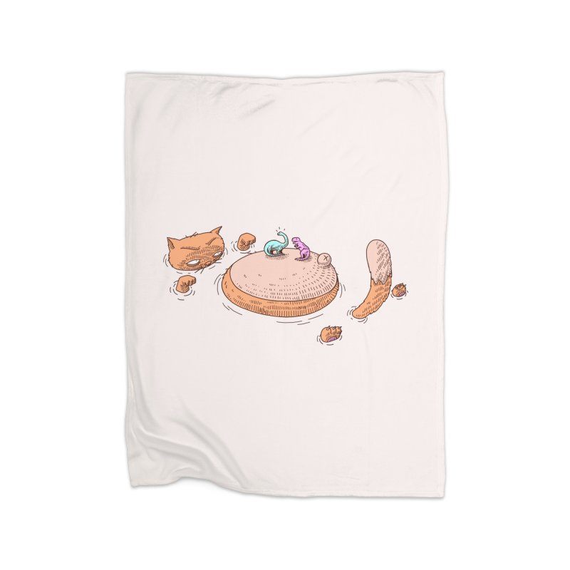 Catnosaur Home Blanket by makapa's Artist Shop