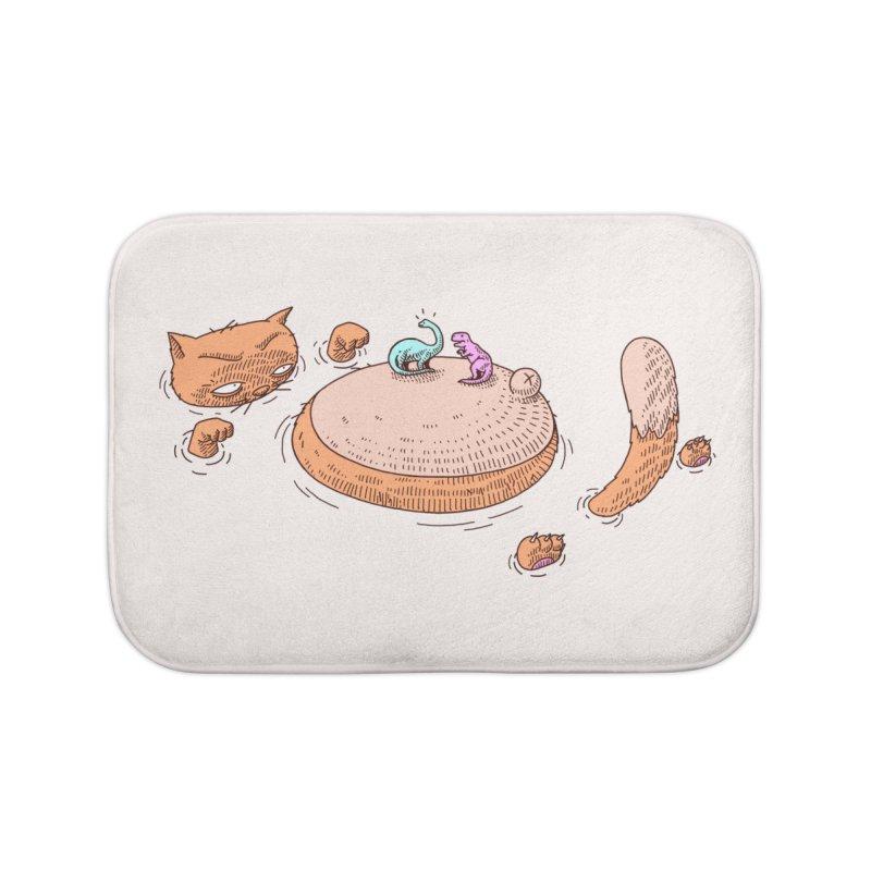 Catnosaur Home Bath Mat by makapa's Artist Shop