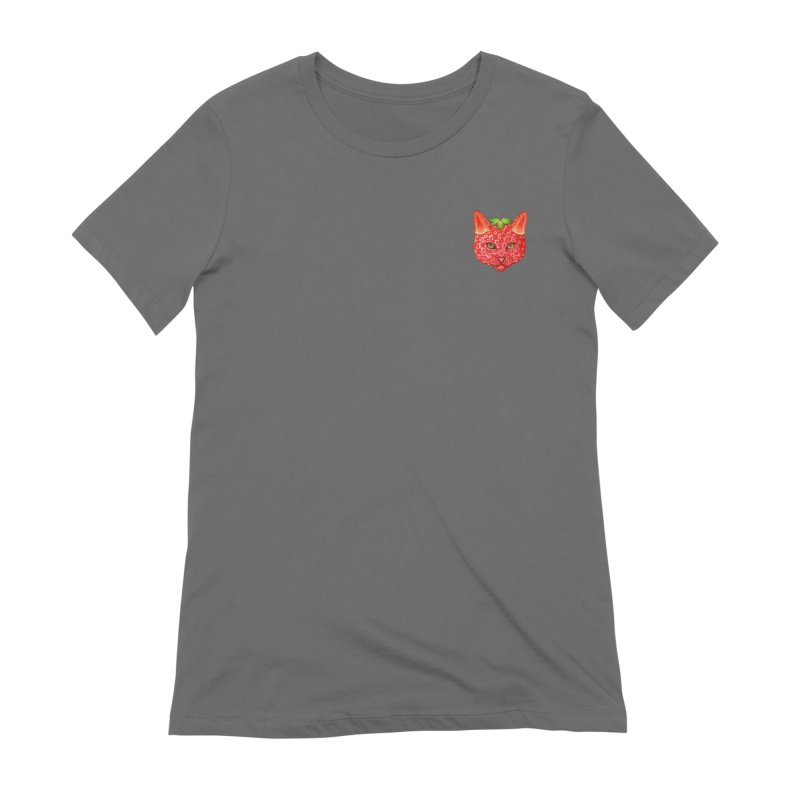 Strawberry cat (mini) Women's T-Shirt by makapa's Artist Shop