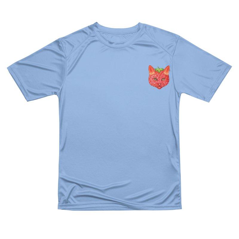 Strawberry cat (mini) Men's T-Shirt by makapa's Artist Shop