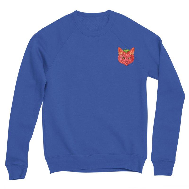 Strawberry cat (mini) Women's Sweatshirt by makapa's Artist Shop