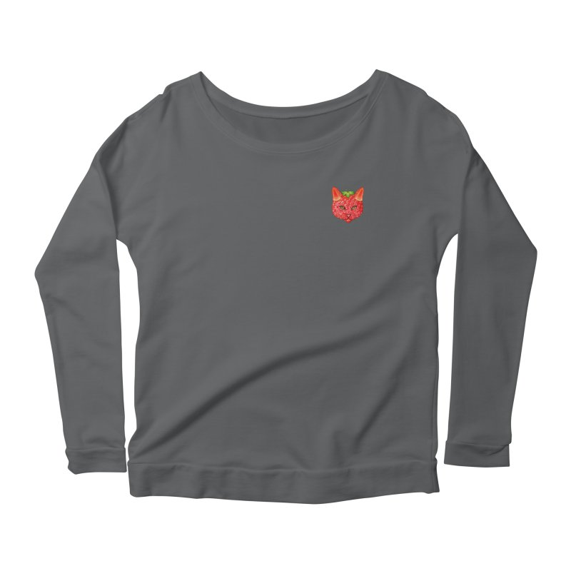 Strawberry cat (mini) Women's Longsleeve T-Shirt by makapa's Artist Shop