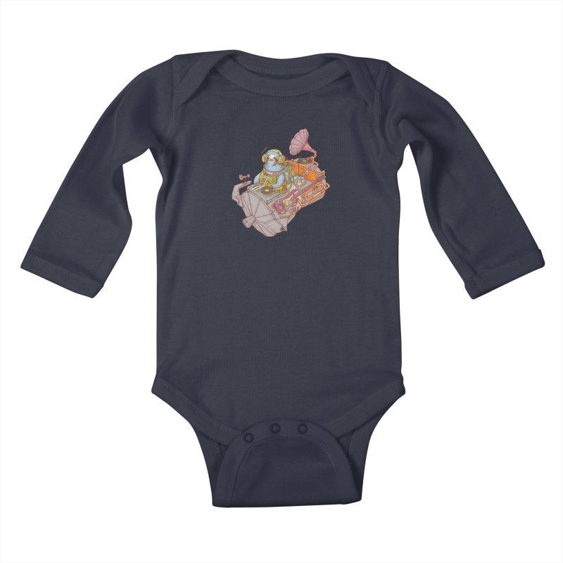 Chill space Kids Baby Longsleeve Bodysuit by makapa's Artist Shop