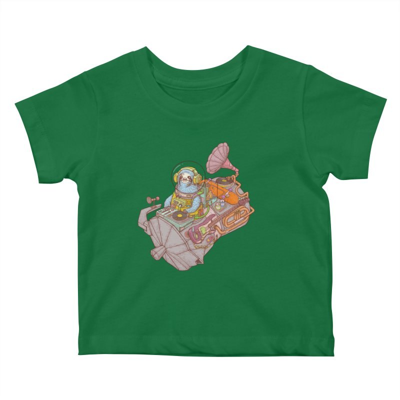 Chill space Kids Baby T-Shirt by makapa's Artist Shop
