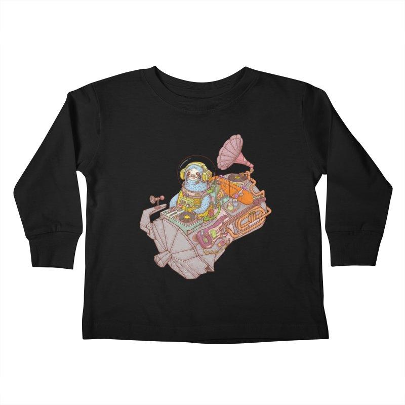 Chill space Kids Toddler Longsleeve T-Shirt by makapa's Artist Shop