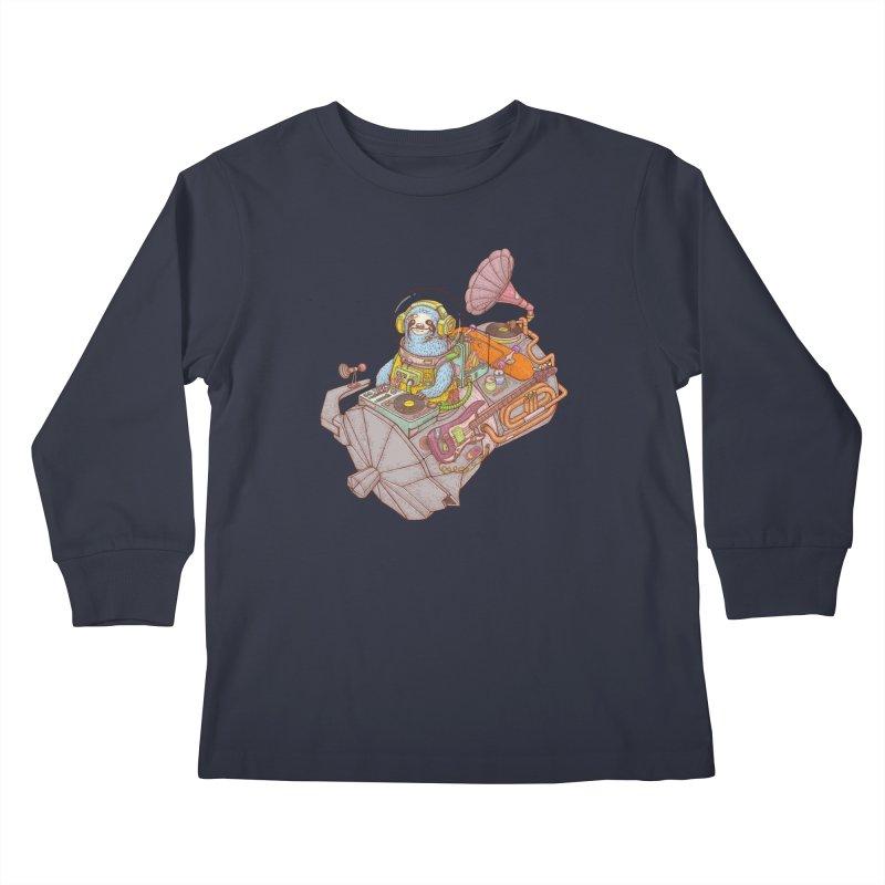 Chill space Kids Longsleeve T-Shirt by makapa's Artist Shop