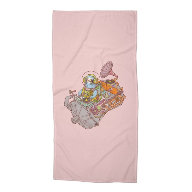 Chill space Accessories Beach Towel by makapa's Artist Shop