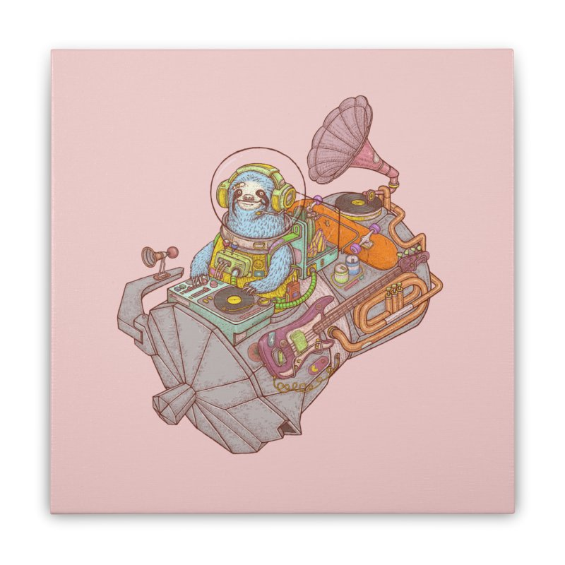 Chill space Home Stretched Canvas by makapa's Artist Shop