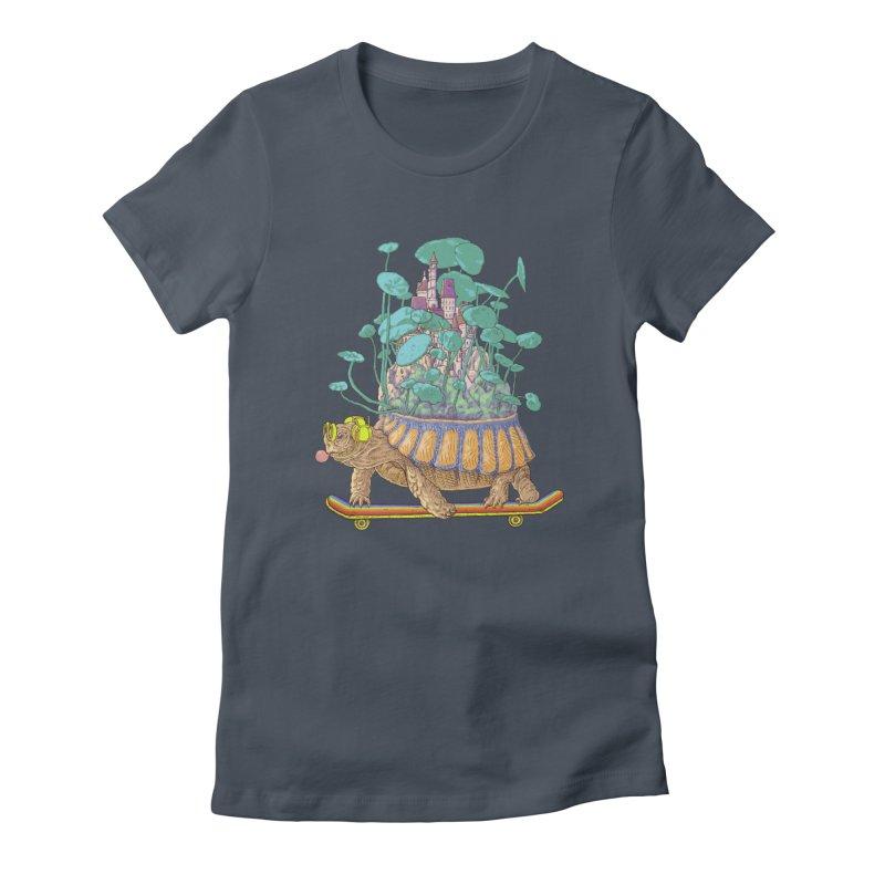 Turtle's moving castle 02 Women's T-Shirt by makapa's Artist Shop