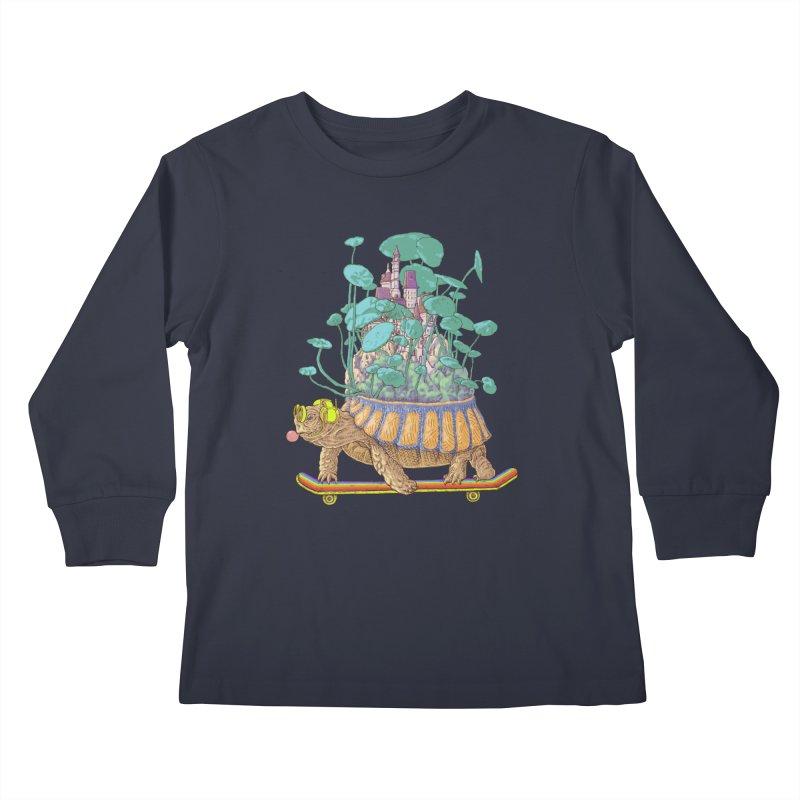 Turtle's moving castle 02 Kids Longsleeve T-Shirt by makapa's Artist Shop