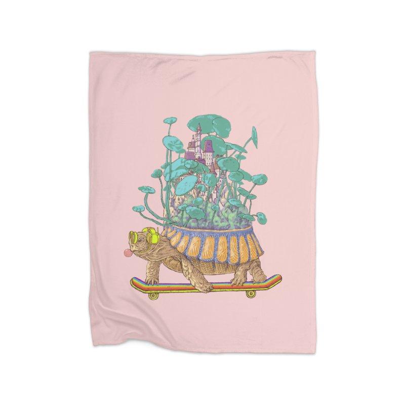 Turtle's moving castle 02 Home Blanket by makapa's Artist Shop