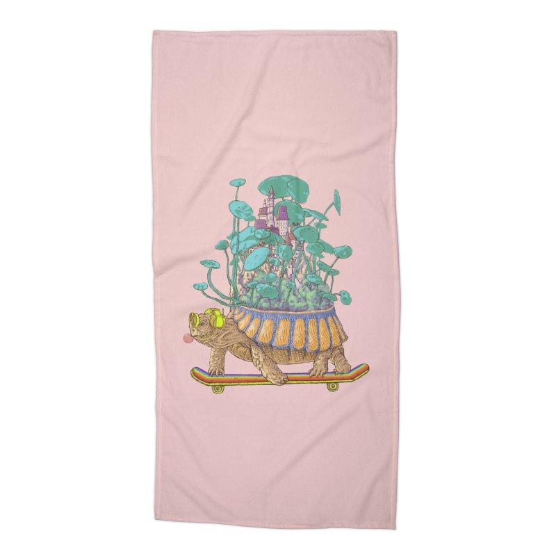 Turtle's moving castle 02 Accessories Beach Towel by makapa's Artist Shop