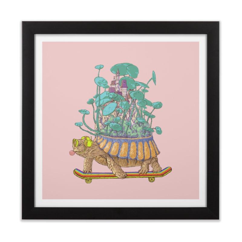 Turtle's moving castle 02 Home Framed Fine Art Print by makapa's Artist Shop