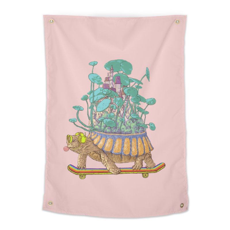 Turtle's moving castle 02 Home Tapestry by makapa's Artist Shop