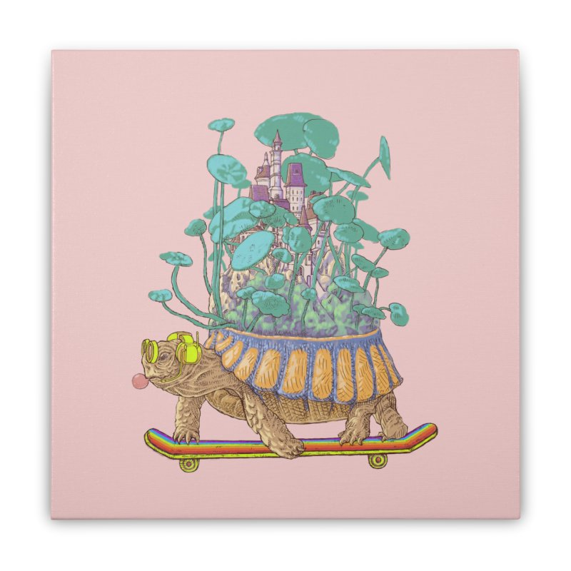 Turtle's moving castle 02 Home Stretched Canvas by makapa's Artist Shop