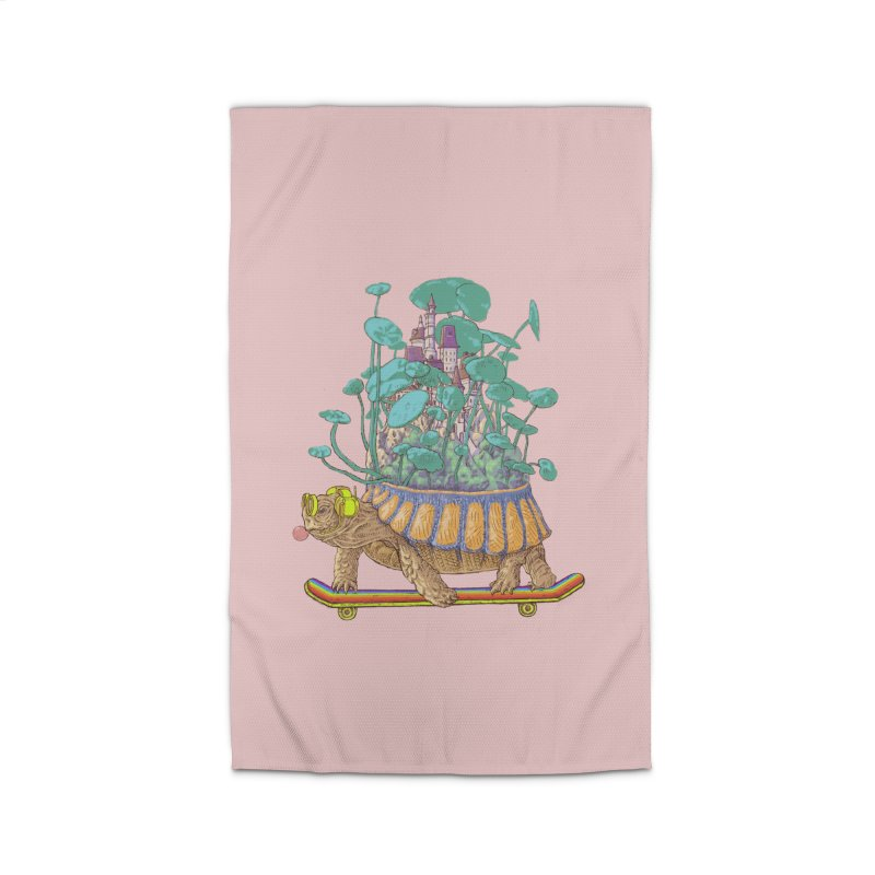 Turtle's moving castle 02 Home Rug by makapa's Artist Shop