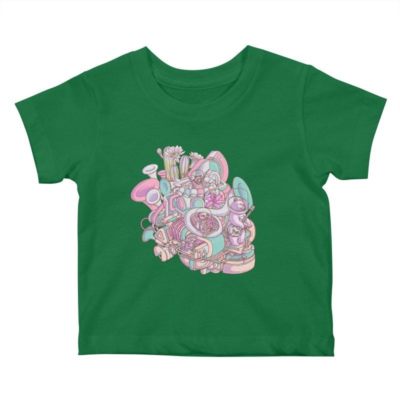Smooth jazz spaceship Kids Baby T-Shirt by makapa's Artist Shop