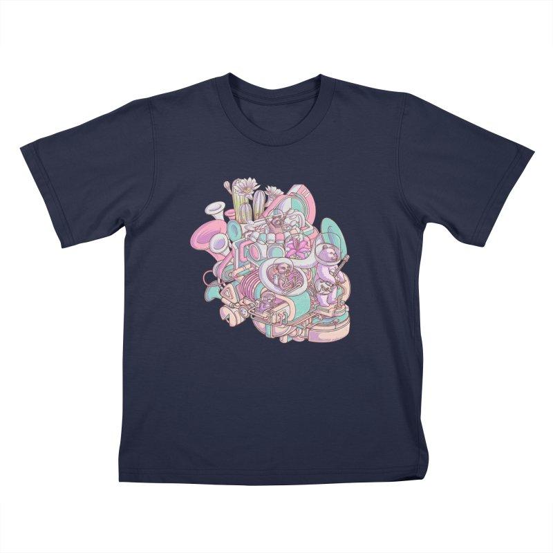 Smooth jazz spaceship Kids T-Shirt by makapa's Artist Shop