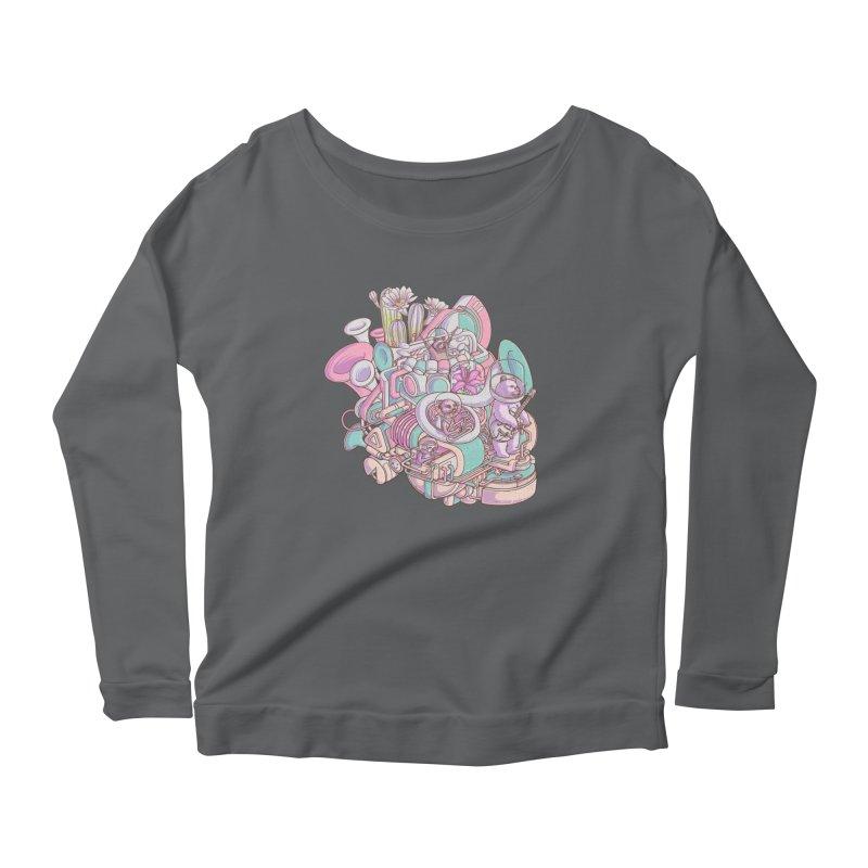 Smooth jazz spaceship Women's Longsleeve T-Shirt by makapa's Artist Shop