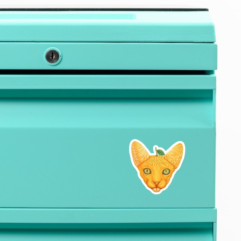 Orange cat Accessories Magnet by makapa's Artist Shop