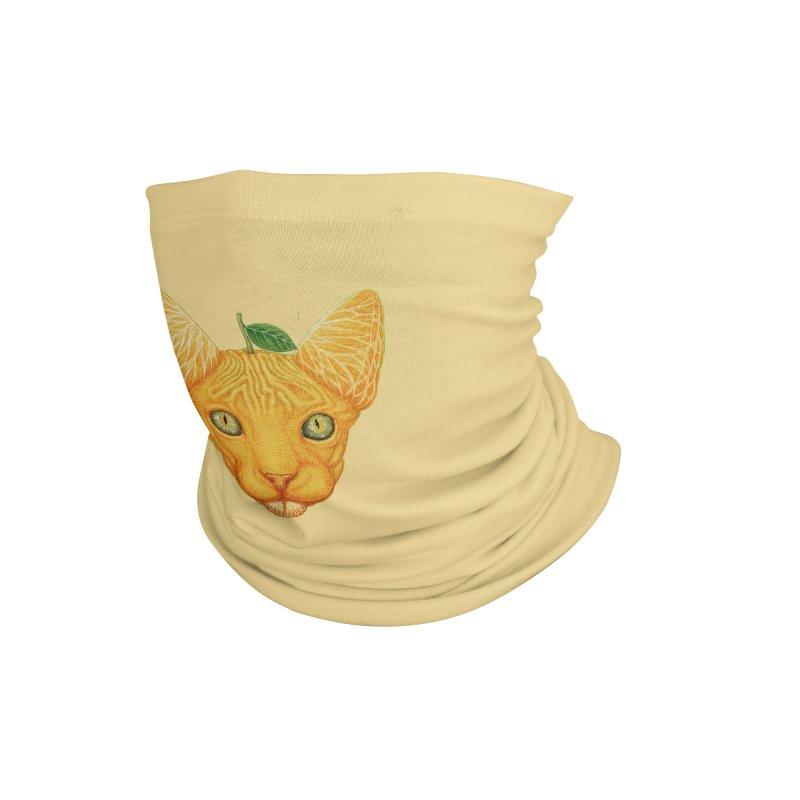 Orange cat Accessories Neck Gaiter by makapa's Artist Shop