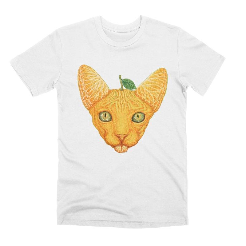 Orange cat Men's T-Shirt by makapa's Artist Shop