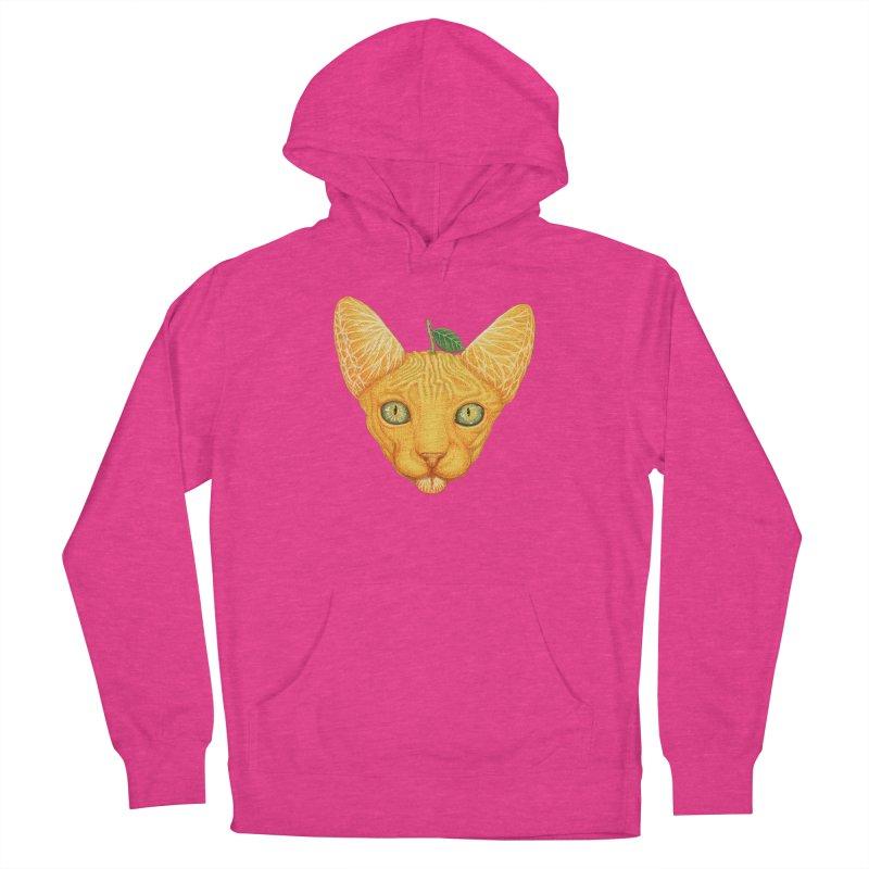 Orange cat Women's Pullover Hoody by makapa's Artist Shop