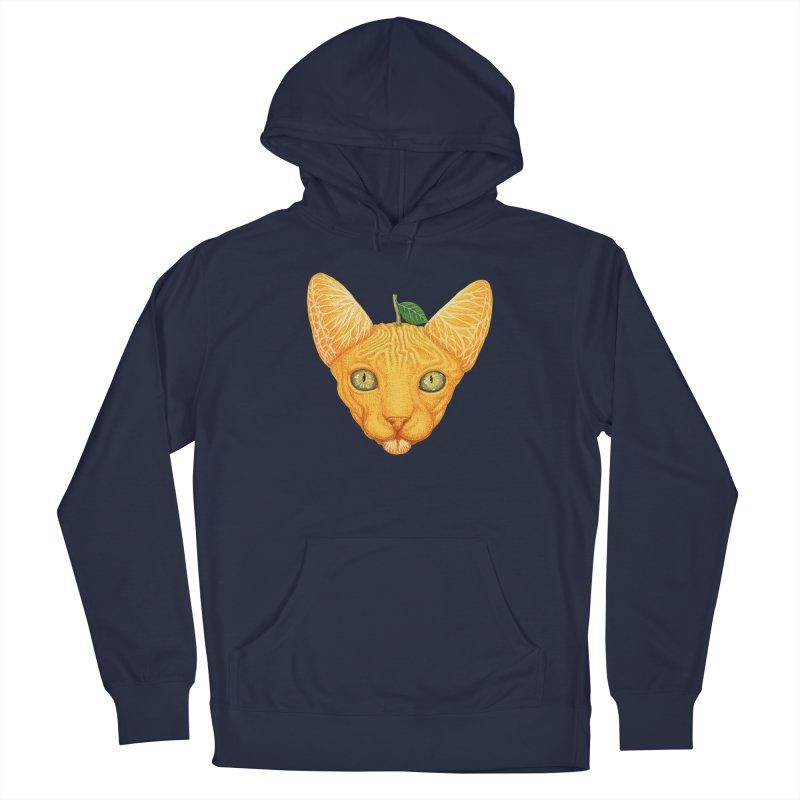 Orange cat Men's Pullover Hoody by makapa's Artist Shop