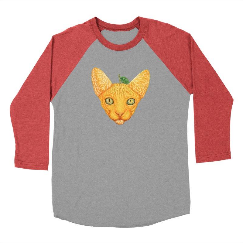 Orange cat Men's Longsleeve T-Shirt by makapa's Artist Shop