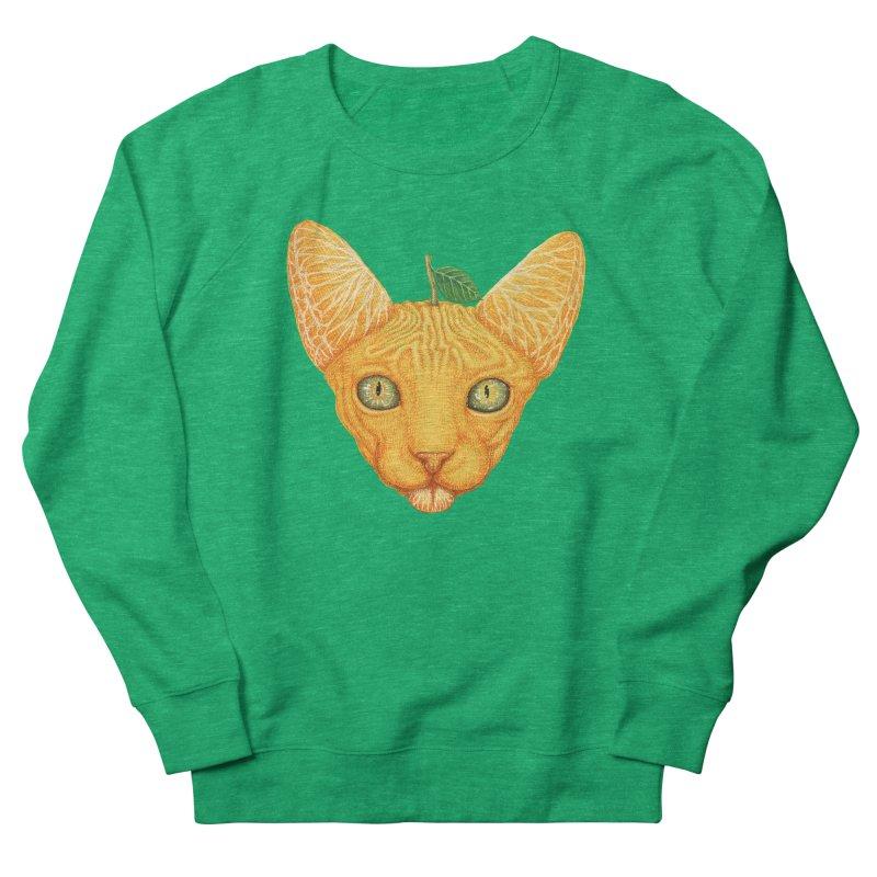 Orange cat Women's Sweatshirt by makapa's Artist Shop