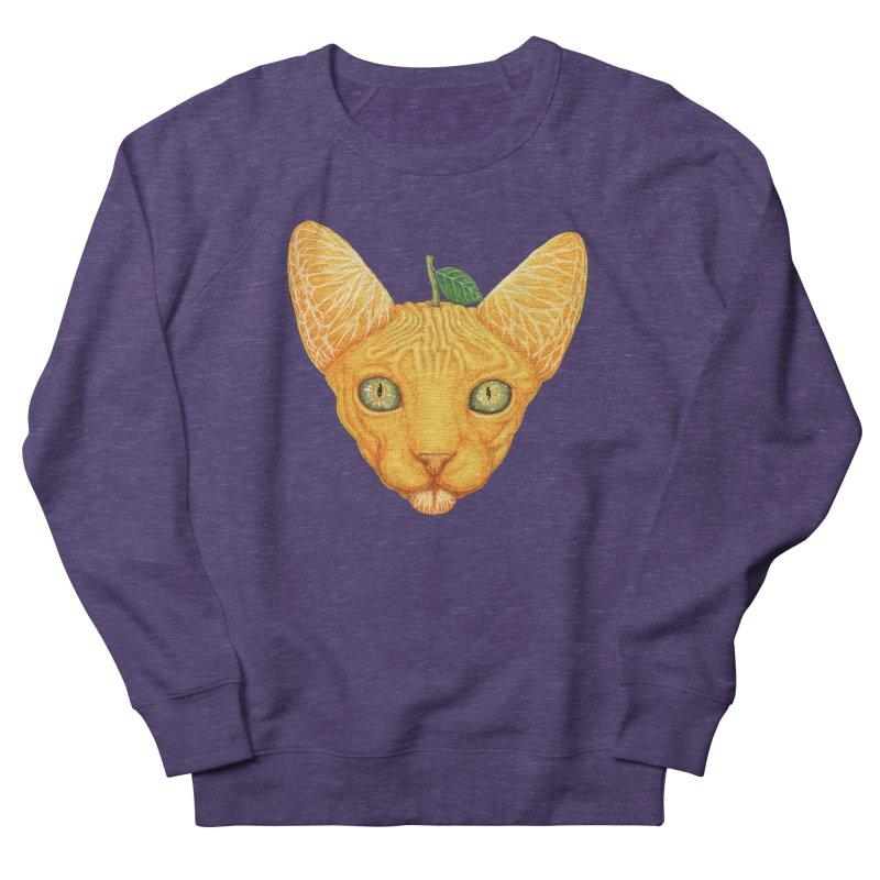 Orange cat Men's Sweatshirt by makapa's Artist Shop