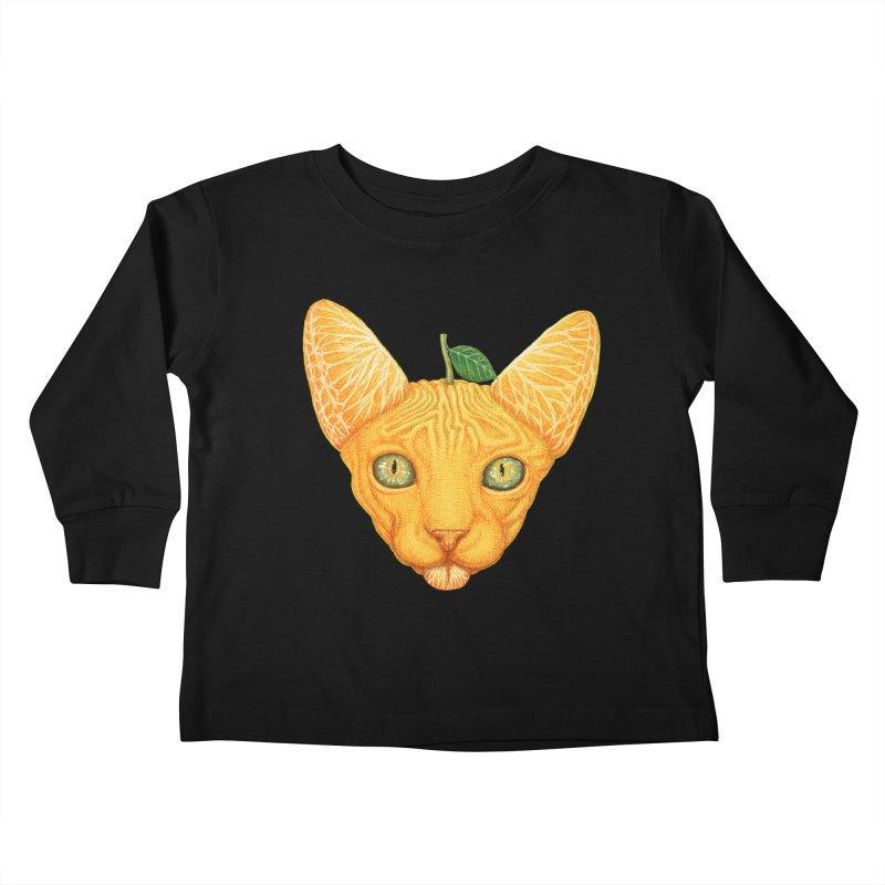 Orange cat Kids Toddler Longsleeve T-Shirt by makapa's Artist Shop
