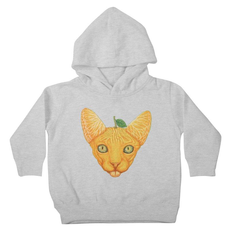 Orange cat Kids Toddler Pullover Hoody by makapa's Artist Shop