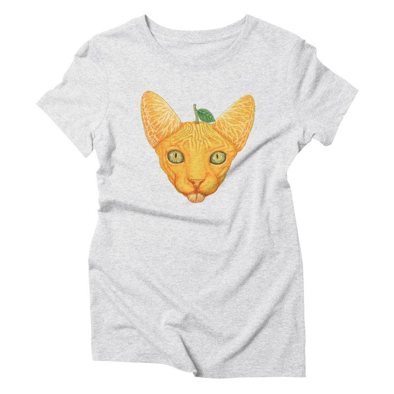 Orange cat Women's T-Shirt by makapa's Artist Shop
