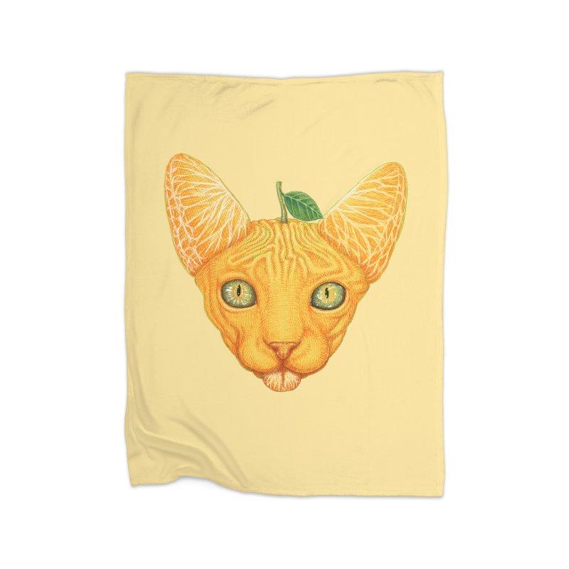Orange cat Home Blanket by makapa's Artist Shop