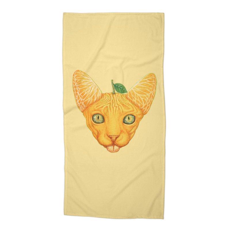 Orange cat Accessories Beach Towel by makapa's Artist Shop