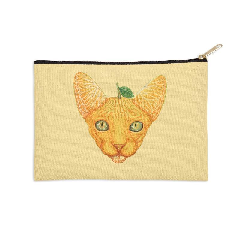 Orange cat Accessories Zip Pouch by makapa's Artist Shop