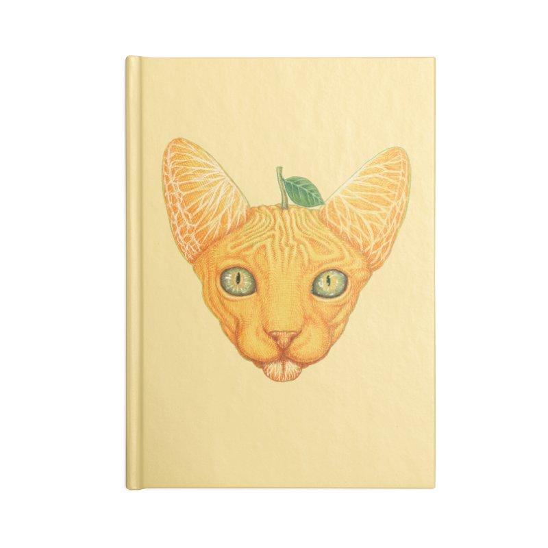 Orange cat Accessories Notebook by makapa's Artist Shop